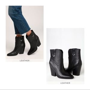 Kendall + Kylie Callum Black Leather Boots